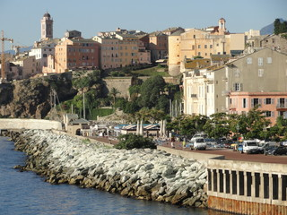 Le centre-ville de Bastia (Corse)
