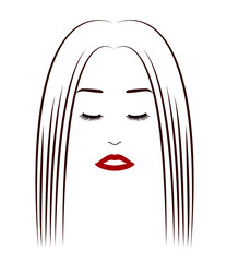 A face of a woman with eyes closed