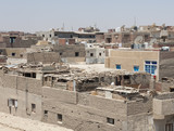 Residential district in poor african town