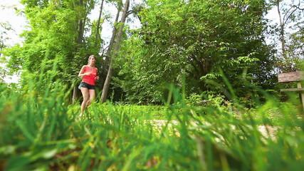 Beautiful Young Woman Jogging