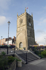 Coleford town center market place clock tower