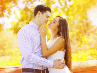 Sensual sweet couple kissing summer, date, love, relationships -