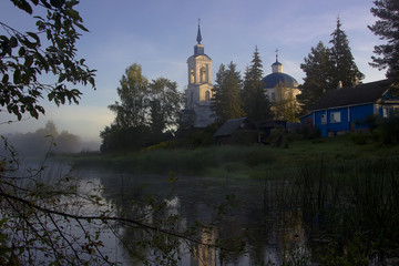 the Church in the village of voronino ,Novgorod region, Russia