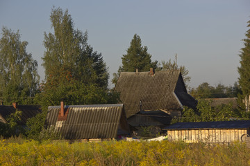 Russian village ,Novgorod region, Russia