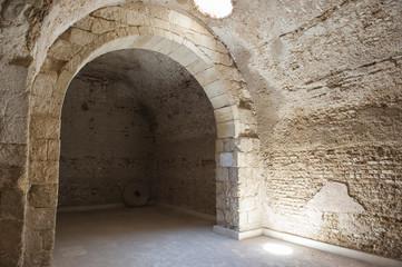 Interior of old roman cistern