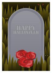 Gravestone Halloween Card