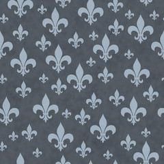 Blue Fleur-de-lis Pattern Repeat Background