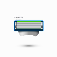 Vector modern razor icon on white background.