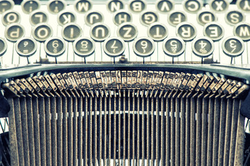 Antique typewriter. Vintage object. Retro style picture