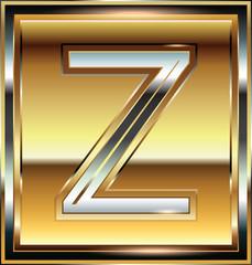 Ingot Font illustration Letter Z