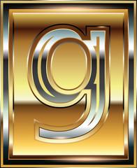 Ingot Font illustration Letter g