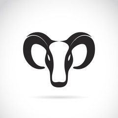 Vector image of an goat head