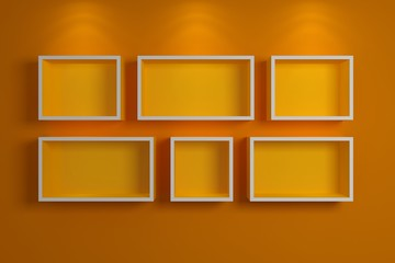 Modern shelf on a wall,