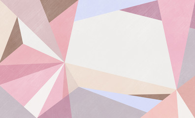 Abstract pastel pink and cream geometric background