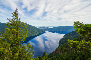 Lake Crescent Washington from Mount Storm King