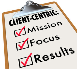 Client Centric Checklist To Do Mission Goals
