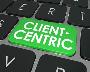 Client Centric Words Computer Keyboard Button Internet Business