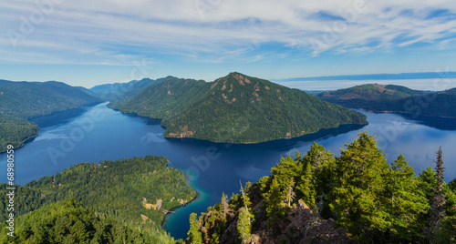 View of Lake Crescent, WA in Olympic National Park