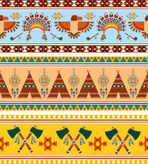 Vector Tribal Ethnic Vintage Background