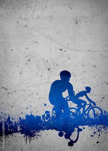 Fototapeta Cycling background