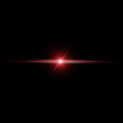 Abstract red beam Light vector