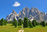 Mountain range in Dolomites