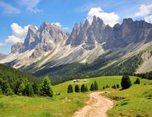 Chemin de randonnée dans les Alpes