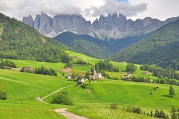 Alpine landscape in Dolomites