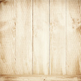 Fototapety Old brown wooden planks texture with shelf.