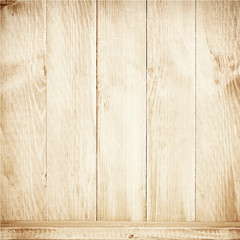 Old brown wooden planks texture with shelf.