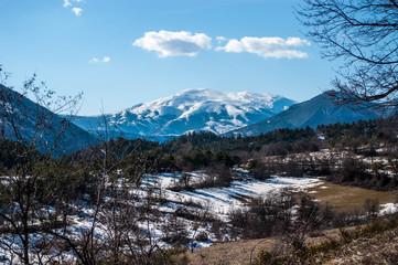 Montagne en hiver.
