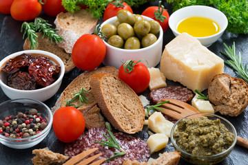 assortment of delicious antipasti