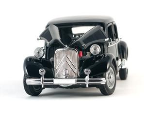 Black vintage retro car