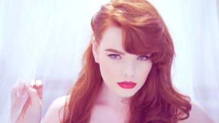 Beautiful seductive young woman