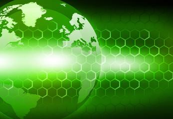 Earth globe on digital  background