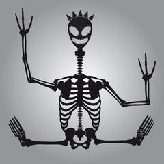 crazy alien skeleton eps10