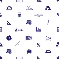 mathematics icons seamless pattern eps10