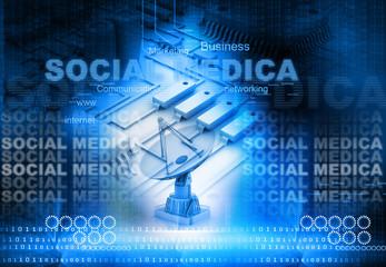 Social media concept..