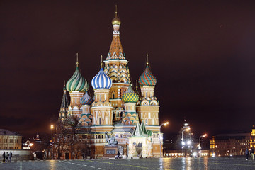 St. Basil Cathedral, Moscow Kremlin, night