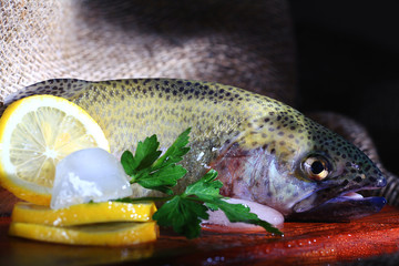 fresh trout rustic style restaurant