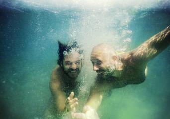 Giocando sott'acqua