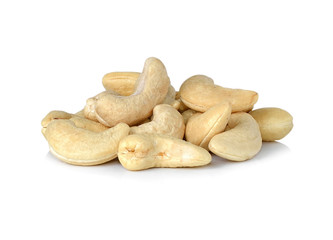cashew nuts  isolated white background