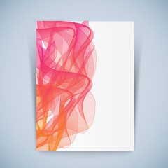 Abstract vector modern flyer