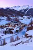Mountains ski resort Solden Austria - sunset