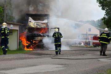 Fire truck,firemans