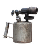 Blowtorch old, rusty. Isolated on white poster