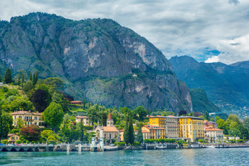 View on Cadenabbia, on the shore of Lake Como