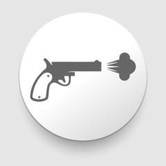 Revolver vector icon on white background.