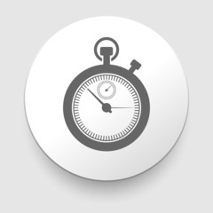 stopwatch web black icon isolated