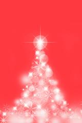 クリスマスツリー イルミネーション 赤